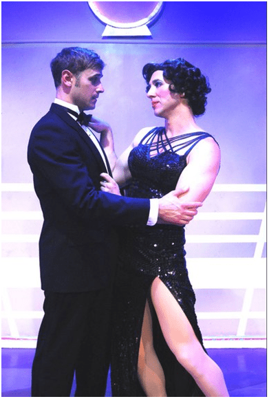 Adam Kemmerer and Josh Kenney in a scene from  Fabulous! The Queen of New Musical Comedies  (Photo credit: Rick Berube)