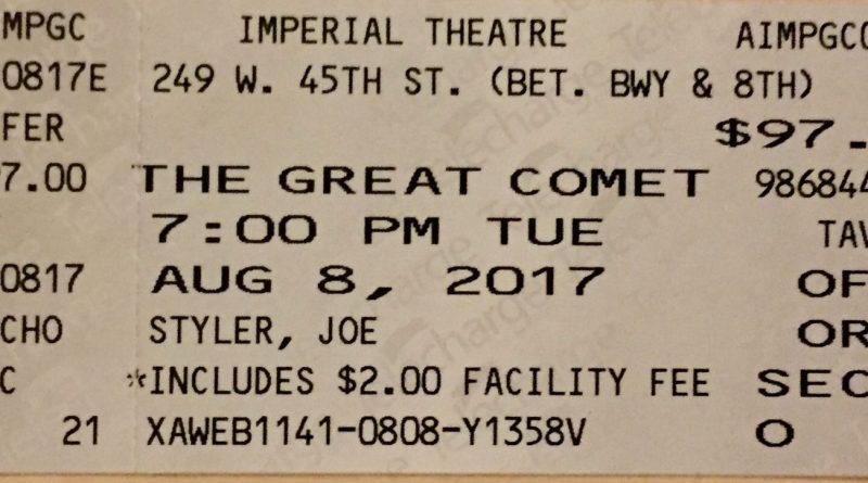 Great Comet ticket
