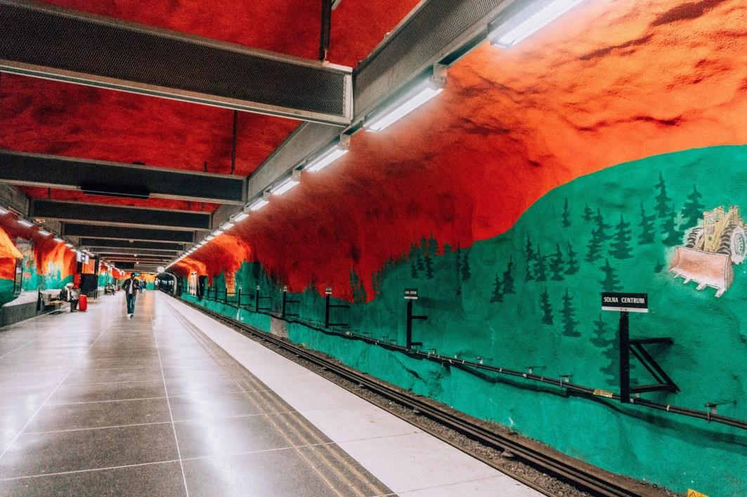 Stockholm Subway Art: Solna Centrum