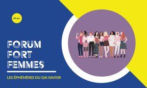 Forum fort femmes au théâtre du Gai Savoir à Lyon