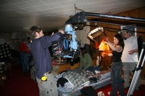 Film UAF on the set of Chronic Town