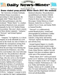 Winter Shorts 2015 News-Miner Article
