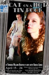 Cat on a Hot Tin Roof production poster