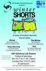 Winter Shorts poster, Fall 2017