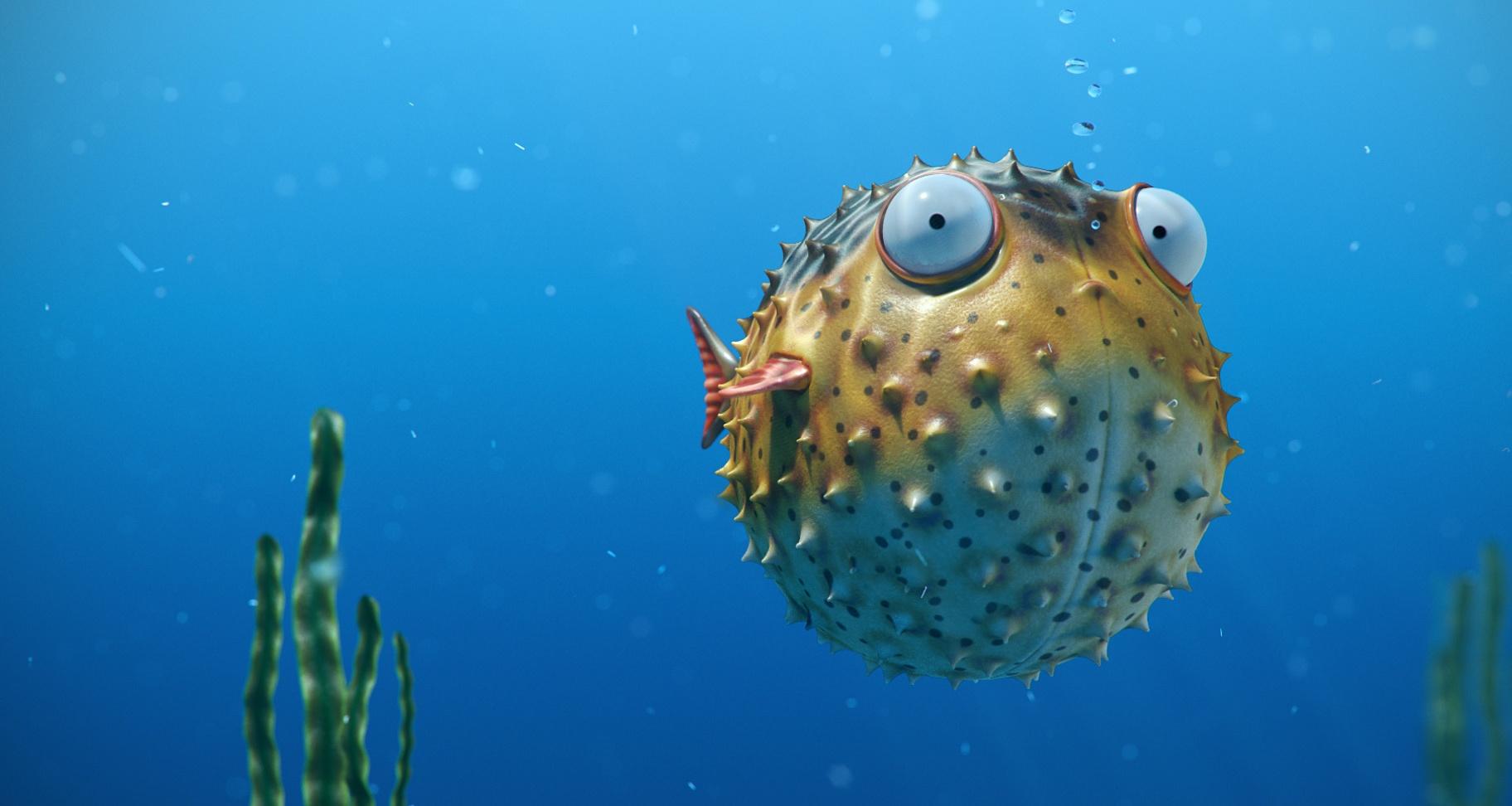2_render-puffer-peixe-arte-bolhas-engraçado-hd-papel de parede