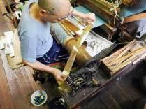 Gold thread for weaving @Sasaki Nō Isshō. ©2013 Megan Nicely.