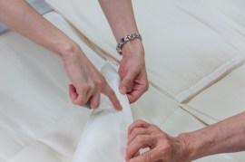 Examination of hand stitching