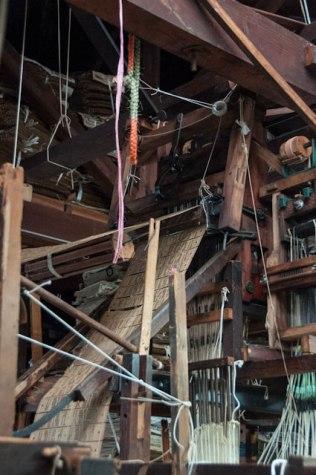 Jacquard loom detail, Sasaki workshop