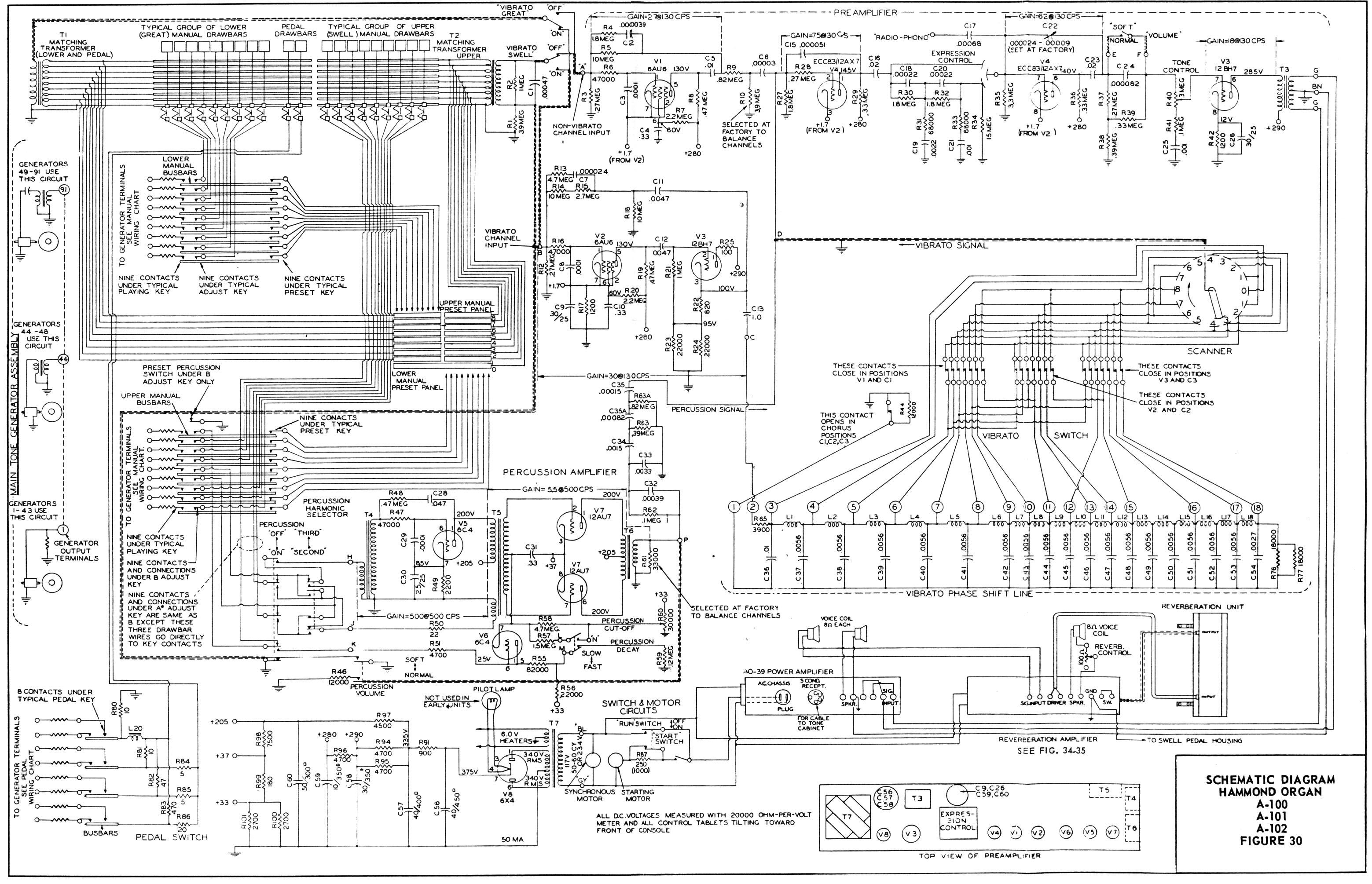 Hammond Organ Wiring Schematics