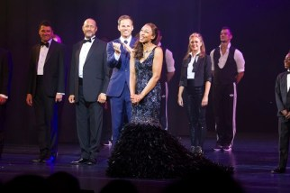 Ben Richards (The Bodyguard) and Beverley Knight (Rachel Marron) during the curtain call