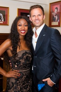 Beverley Knight (Rachel Marron) and Ben Richards (The Bodyguard) backstage