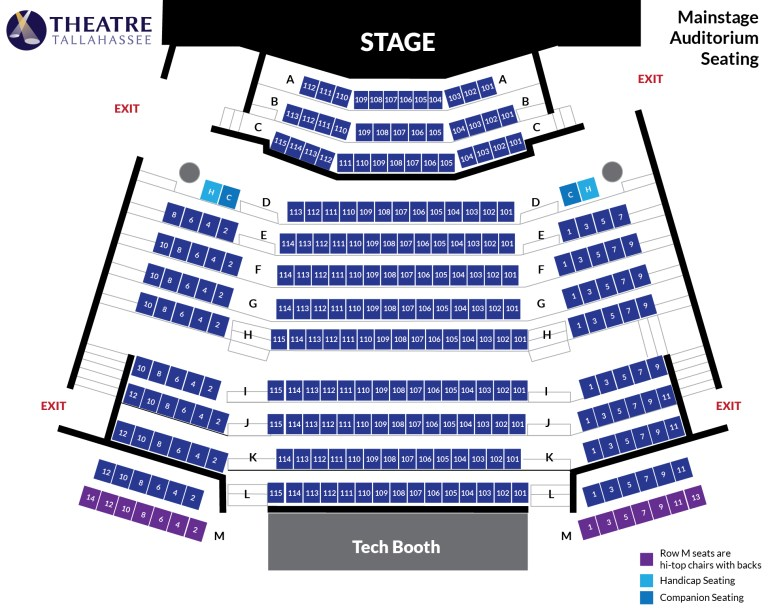 Seating Chart - Mainstage