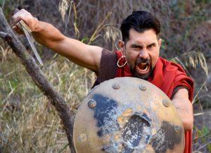 Coriolanus charges into battle