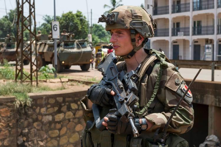 Patrouille à Bangui le 15 mars 2014. Crédit photo : EMA / ECPAD