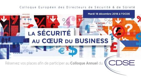 La sécurité au cœur du Business (Colloque 2018 du CDSE) @ OCDE | Paris | Île-de-France | France