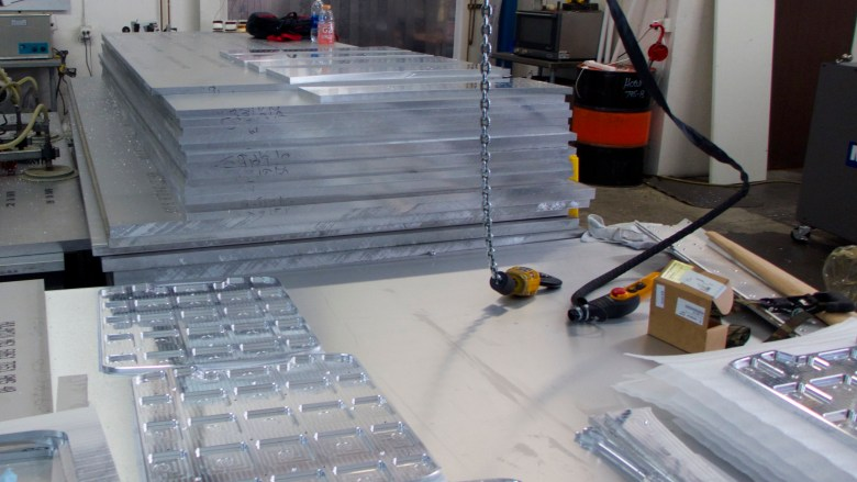 Slabs of aluminum