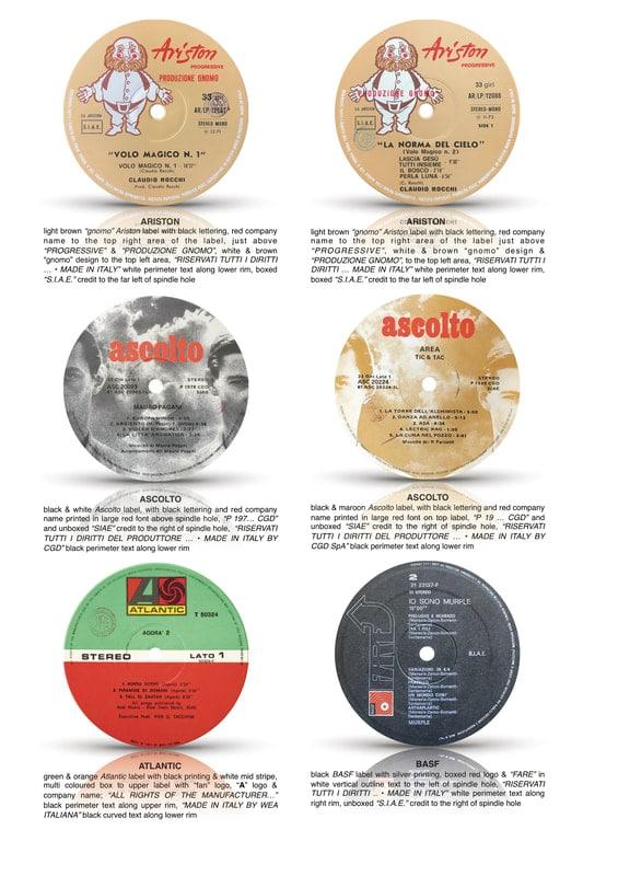 70s Italian LPs: Fine Dining Prog