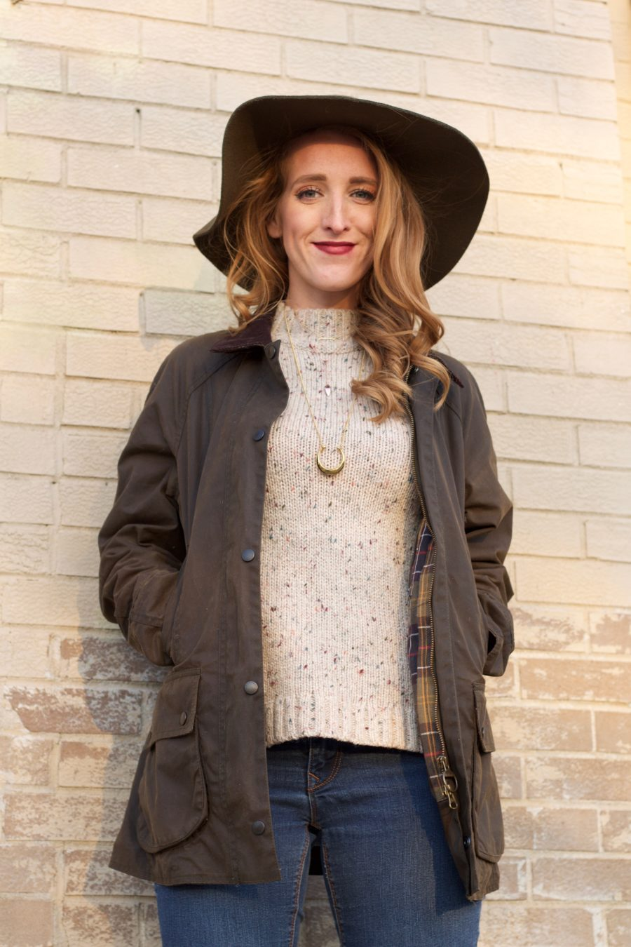 Barbour Jacket & Matching Hat 3