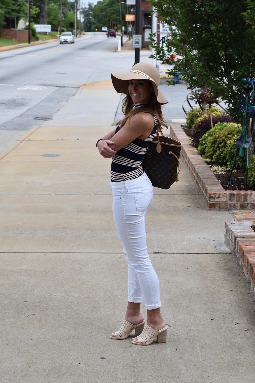 Dolce Vita Mules White Pants Styling Bodysuit