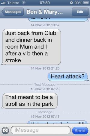 Dad has a stroke