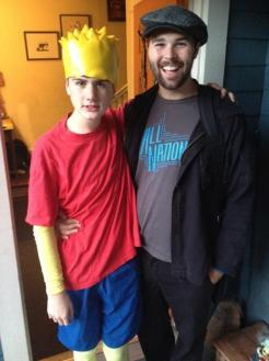 Bart Simpson and his therapist and buddy, Kyle.
