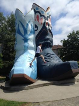 Conquering the boots in Oxbow Park, Georgetown