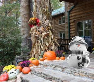 snowman in october