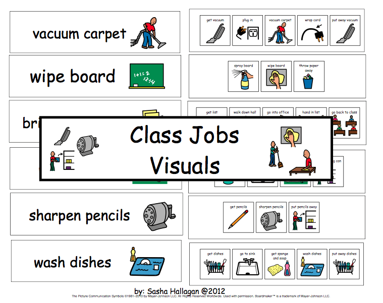 Freebie Friday: Classroom Jobs Visuals and Directions