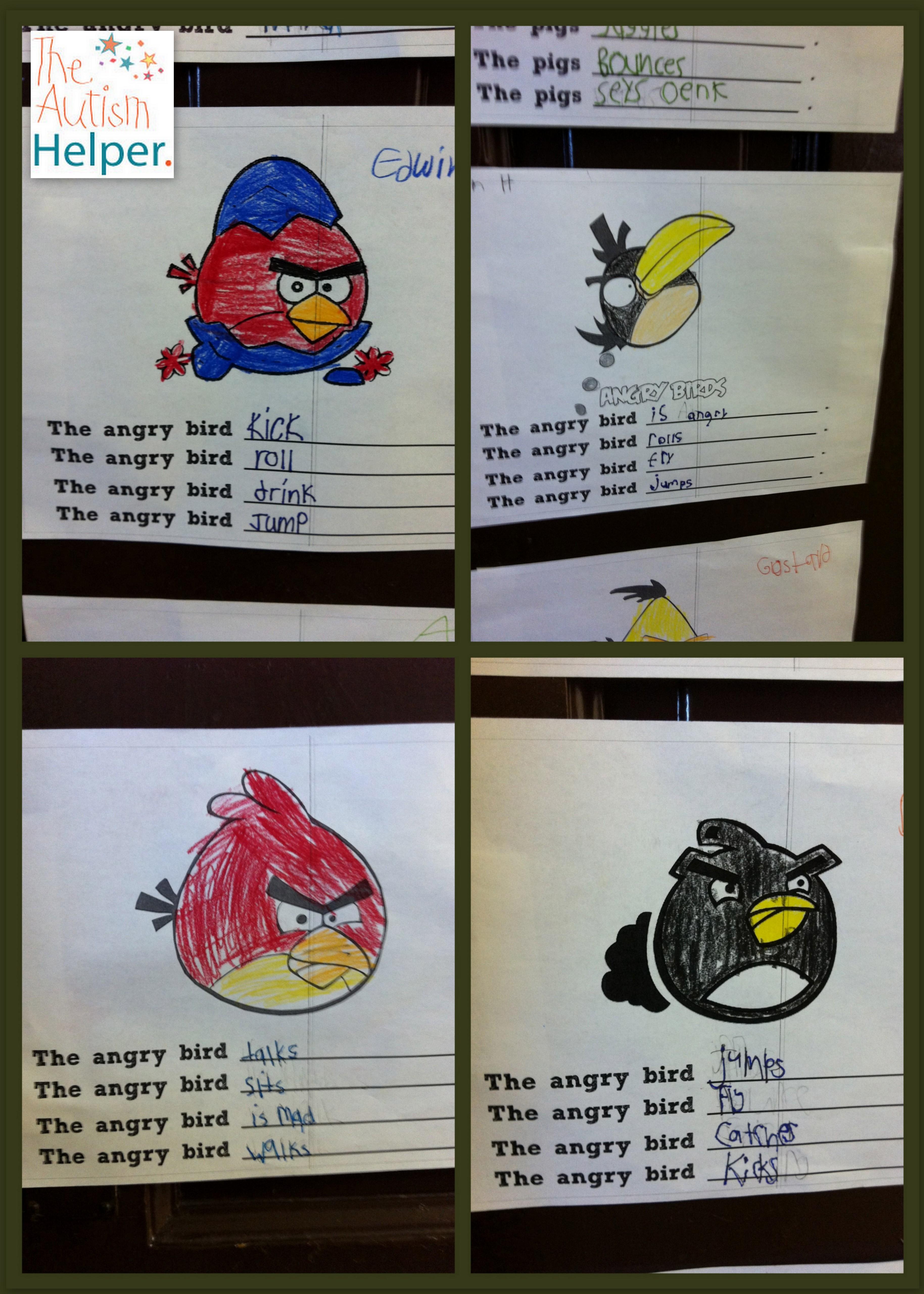 Angry Verbs Making Grammar Fun