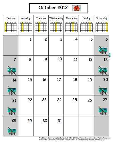 Freebie Friday: Visual Monthly Calendars