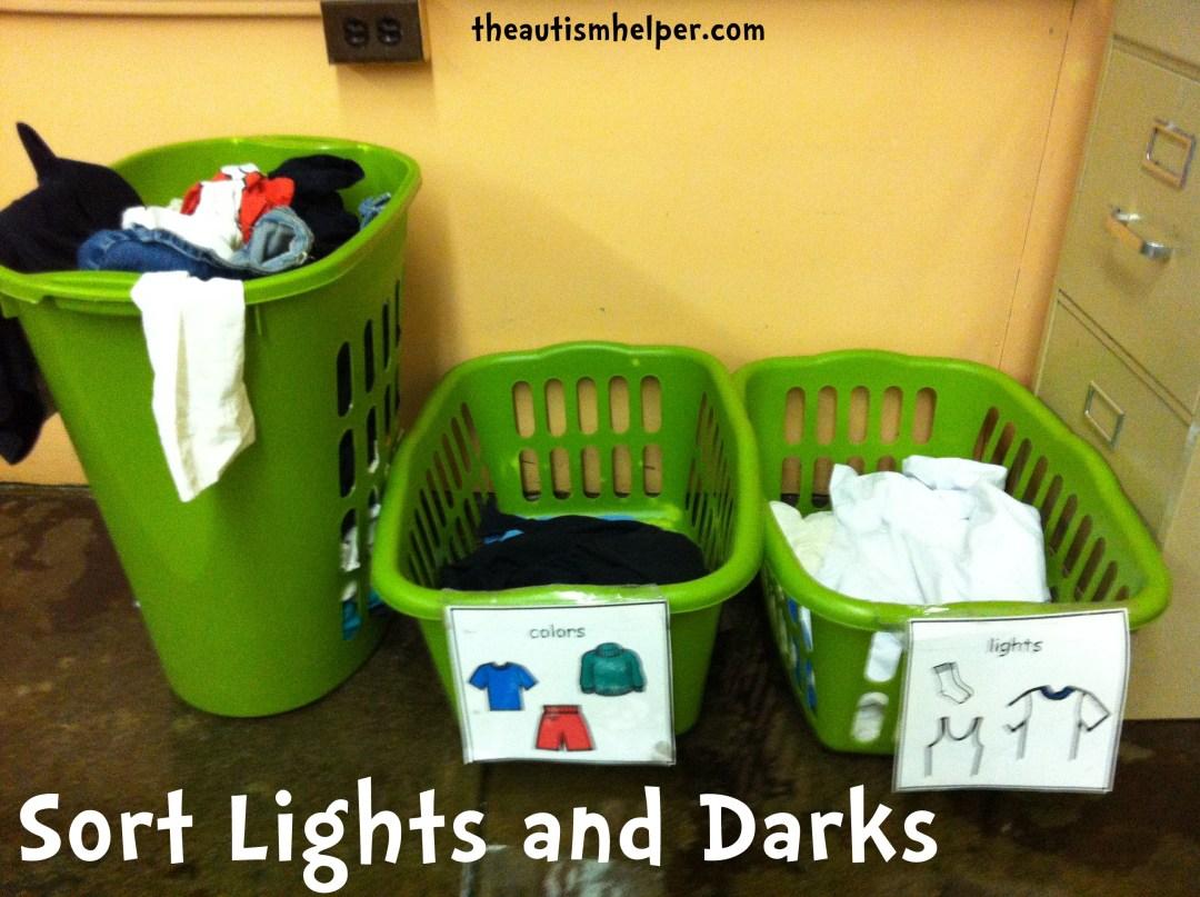 sort lights and darks