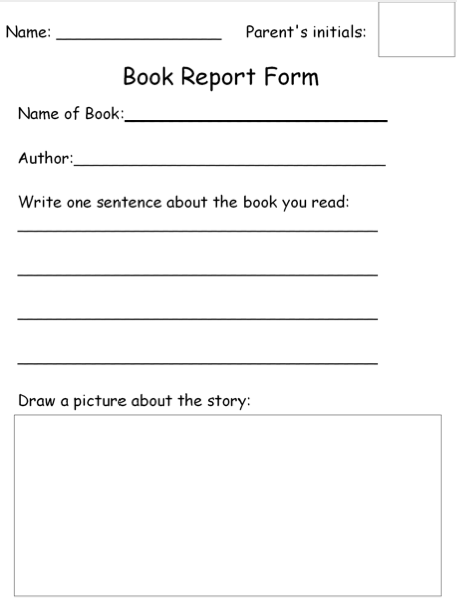 Freebie Friday: Book Report Form