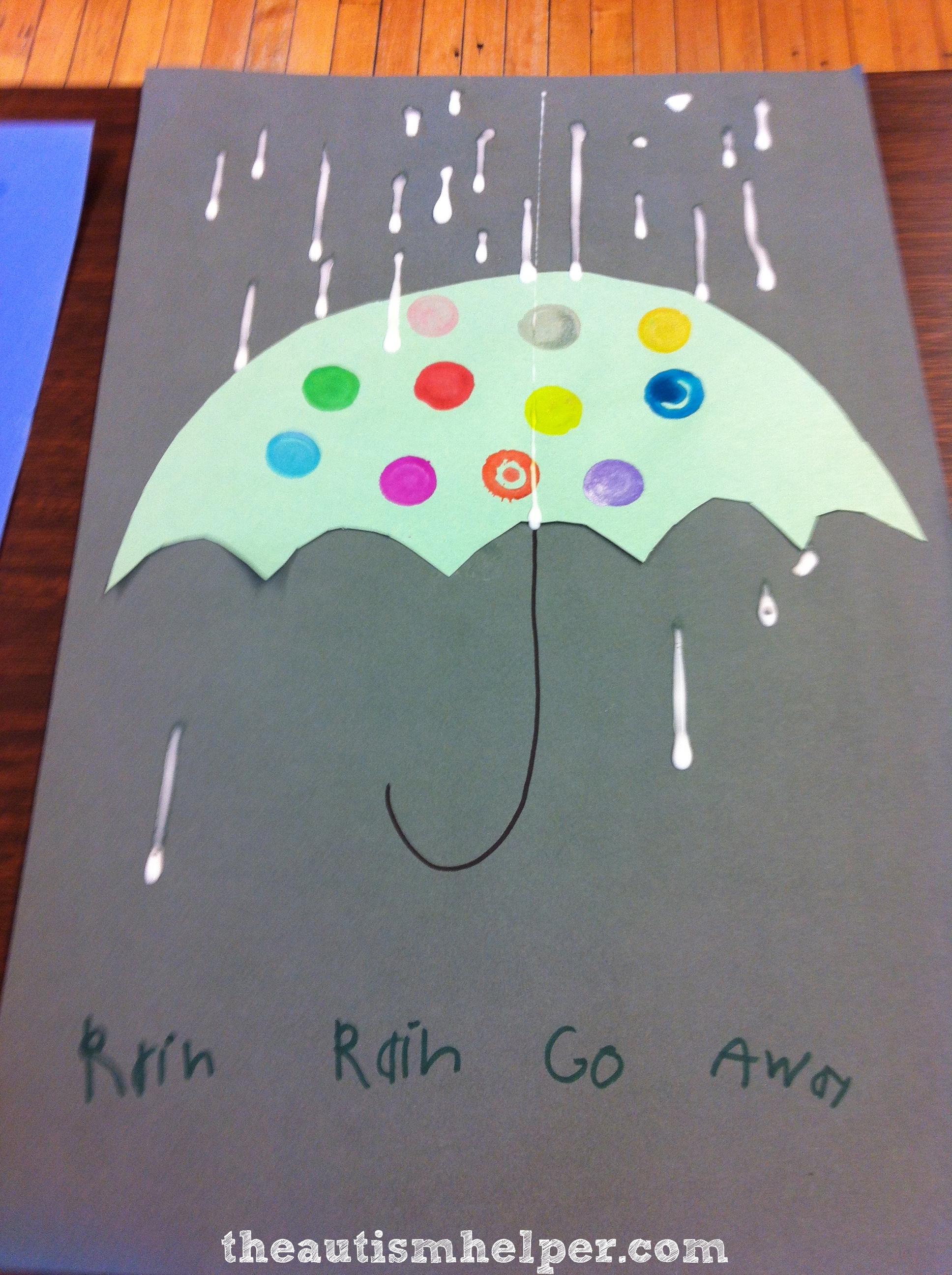 Rainy Day Craft With A Fine Motor Twist