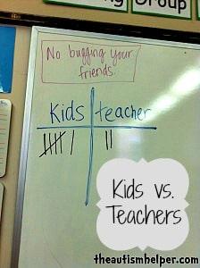 Fan Favorite Post {Kids v. Teachers Intervention}