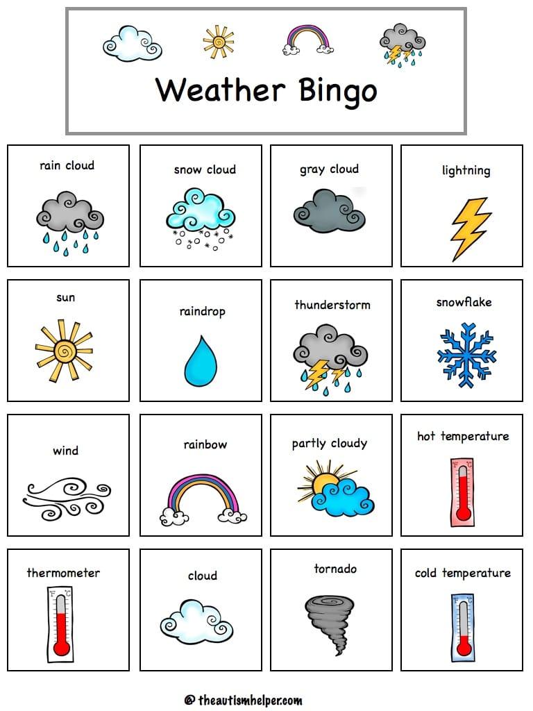 Weather Vocabulary ESL Interactive Board Game - ESL Games Plus