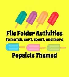 Popsicle File Folder Activities