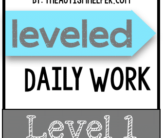 Leveled Daily Work {Level 1}