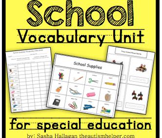 School Vocabulary Unit