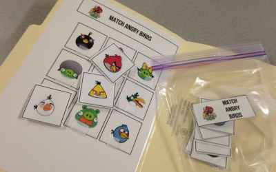 Age Appropriate Matching File Folder Activities {free}