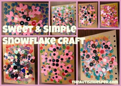 The Autism Helper - Snowflake Craft