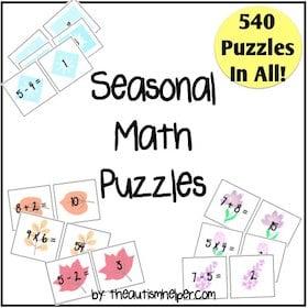 Seasonal Math Puzzles