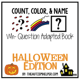 Count, Color, and Match – Halloween