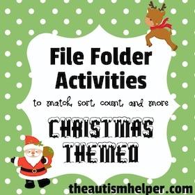 Christmas File Folder Activities