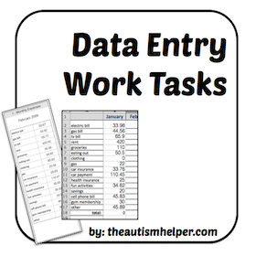 Data Entry Work Tasks