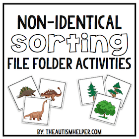 Non-Identical Sorting File Folder Activities