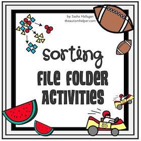 Sorting File Folder Activities