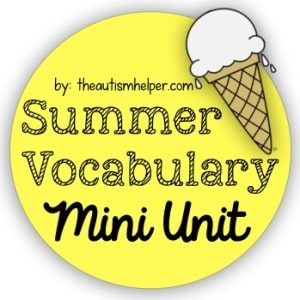 Summer Vocabulary Unit {freebie}