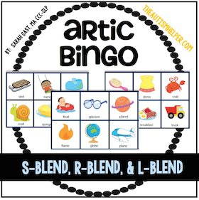Articulation Bingo {S, R, & L Blends}
