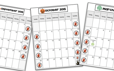 Visual Monthly Calendars