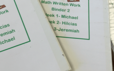 Rotating Student Binders {being efficient with your resources}